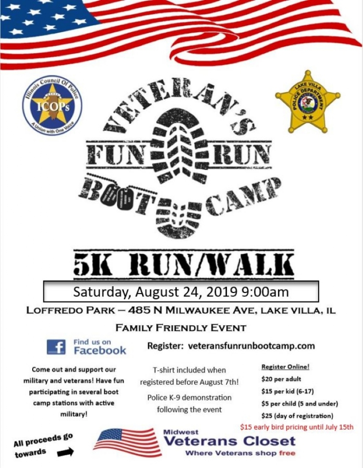 5K Fun Run/Walk Boot Camp